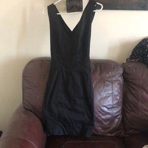 Bebe black corset dress